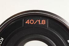 Konica Hexanon AR 40mm f/1, 8 ZB. en Sony e-Mount (a7), MFT, fuji, defectuoso