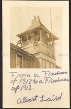 Students in the Bell Tower, Real Photo Postcard, 1909, AZO