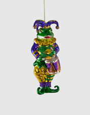 Glass Jester Kissing Fish Ornament Mardi Gras - Katherine's Collection 22-822301
