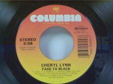 "CHERYL LYNN ""FADE TO BLACK / LOAFIN"" 45 MINT"