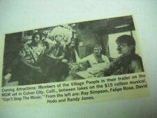 Village People in their trailer Original 1979 music biz promo pic with text