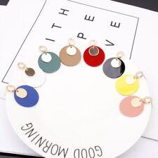 Fashion Enamel Women Circle Boho Tassel  Drop Dangle Stud Earrings Jewelry Gift