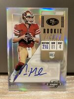 2018 Panini Contenders Optic Nick Mullens Rookie Ticket Auto Silver Prizm 49ers