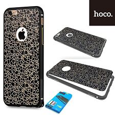 Hoco Blade Aluminum Bumper & Leather Sticker Case Cover  iPhone 6S Plus - BLACK