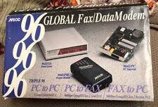 Triple 96 Global Fax Data Pocket External Modem W Dos Software Disc Vintage Pc
