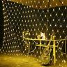NEW LED STRING FAIRY LIGHTS NET MESH CURTAIN WEDDING PARTY XMAS TREE GARDEN HOME