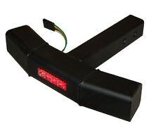 "LED Step Bumper Guard Truck Hitch Receiver black  Rear Brake Turn Light Red 2"""