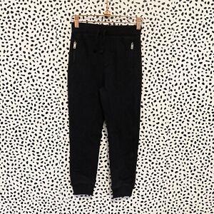 NEW Burberry Children Black Zipper Pocket Jogger Pants Size 8Y