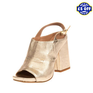 RRP €115 GENEVE Leather Slingback Mule Sandals EU 39 UK 6 US 8.5 Made in Italy