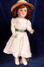 "22"" German SIMON & HALBIG Bisque Doll #550B GIMBELS Sleep Eyes Pretty Old Dress"
