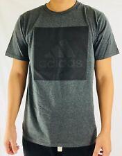 Adidas Men's Shirt The Go To Tee Cotton Shirt Dark Gray Textured CA9816 Size XL
