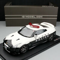 Ignition Nissan GTR R35 2018 Tochigi Police Car 1:18 Scale Car Model Collection