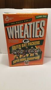 Green Bay Packers NFL Super Bowl XXXI Champion Wheaties Cereal Box opened..empty