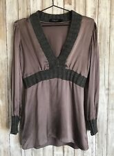 Cris Barros Limited Edition Purple Mauve Gray Silk Wool Top 40 S M * RARE!