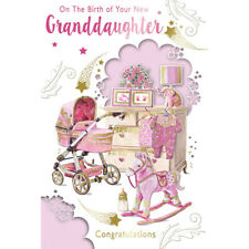 On The Birth of Your New Granddaughter Congratulations Celebrity Style Card