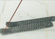 Incense Holder Unique Mat Silver Engraved The Sun, Stars, other Ornaments