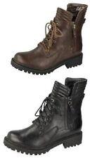Spot on Women's Combat Low Heel (0.5-1.5 in.) Boots