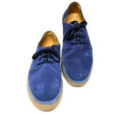 Cole Haan Mens 12M 46 Ridley Blucher Skater Fashion Sneakers Blue Suede Lace Up