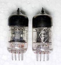 RARE TESTED PAIR 6N5P BLACK BOXED ANODE 3xMICA ~ CCa 6N1P E88CC Tube date 1961 !