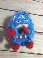"Marvel Comics Captain America Hideaway Pets Pillow Plush Mini 5"" Blue Red Toy"