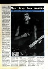 25/2/95PGN03 ARTICLE & PICTURES, RICHEY EDWARDS : MANIC STREET PREACHERS