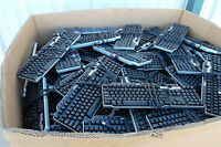 LOT of 50 Mixed Keyboards for Upcycle Projects or Artistic Displays USB PS/2
