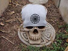 blacksun gray embroiderd beanie hat thors hammer asatru norse