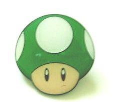 Super Mario Green Mushroom Metal Pin Badge
