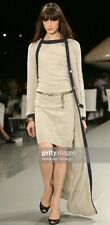 CHANEL 2008 Beige Cashmere Dress CC Buttons sz.M (40)