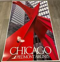 """Piedmont Airlines Chicago Poster 24"""" x 36"""""""