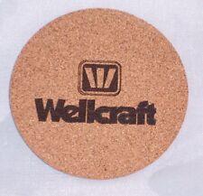 Wellcraft Drink Coasters Set of 4 - CORK, boat, boating, powerboat,beer