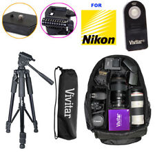 TRIPOD BACKPACK BAG + REMOTE KIT FOR NIKON D5500 D5300 D3400 D3200 DSLR Camera