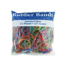 Bazic Multicolor Rubber Bands, Assorted Large, Medium, Small Sizes & Thickness