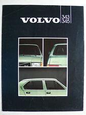 Prospekt Volvo 340 / 345 (343 L - 343/5 GLS), 1982, 6 Seiten, folder