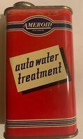 Vintage Old 1950s Car Ameroid Radiator Treatment Can Full Unused Gas Oil Auto