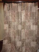 CROSCILL TUSCAN STYLE BEIGE TAUPE BRONZE GREEN FABRIC SHOWER CURTAIN 68 X 74