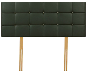 Quality Faux Leather Diamante Headboard, All Sizes & Colours Available