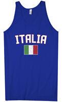 Threadrock Men's Italia Flag Tank Top italy rome italian soccer