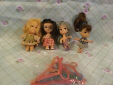 Vintage Liddle Kiddles(?) and Small Dolls-Need Tlc + Doll Plastic Hangers