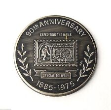 90th ANNIVERSARY 1885-1975 SPECIAL MAIL DELIVERY 10 CENT STAMP TOKEN COIN