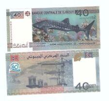 Djibouti  40-franc Commemorative Banknote UNC 2017 Whale Shark  吉布提纪念钞