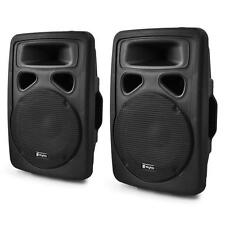Paar PA Lautsprecher Box Aktiv Verstärker Subwoofer DJ Soundsystem 1000 Watt