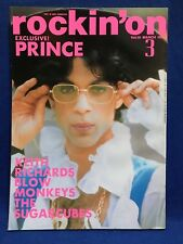 Rockin' on March 1989 Japanese Rock Magazine Book Prince Blow Monkeys Sugarcubes