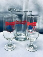 Budwieser Beer Pitcher And Glasses