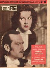 FUNK UND FILM 1955 nr. 14 - ANGELIKA HAUFF & RENE DELTGEN / DENISE HOLT/GOLOWSKY