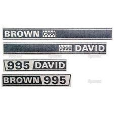 New David Brown 995 Selectamatic Hood Decal Set