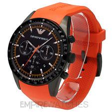 *NEW* MENS EMPORIO ARMANI SPORTIVO ORANGE RUBBER WATCH - AR5987 - RRP £329.00