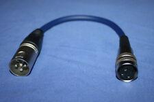 Tuchel Adapterkabel Kleintuchel/DIN female - XLR male blau für MD421 u.a.