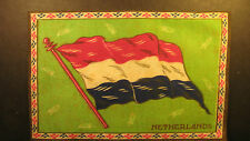 "Early 1900's felt flag 5"" by 8"" of the Netherlands"