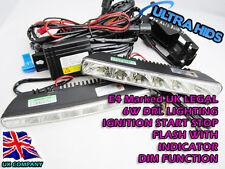 6 Led Drl Luz Indicador De Flash engine ignition Juego de arranque Brillante Blanco Audi